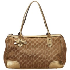 Gucci Gold Guccissima Princy Tote