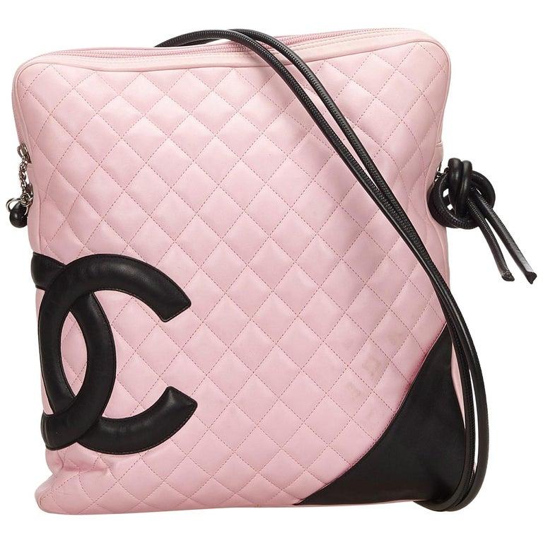 e467ec4d04 Chanel Pink x Black Cambon Ligne Shoulder Bag at 1stdibs