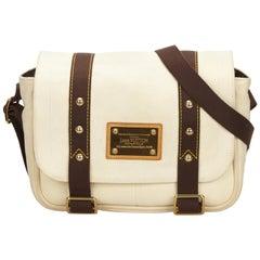 Louis Vuitton White x Brown Antigua Besace PM