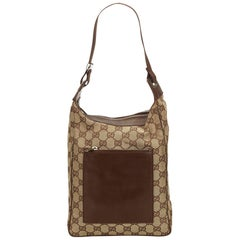 Gucci Brown Guccissima Jacquard Shoulder Bag