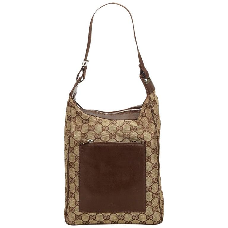 8f2816a157dd Gucci Brown Guccissima Jacquard Shoulder Bag at 1stdibs
