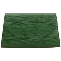 Louis Vuitton Green Epi Art Deco Clutch