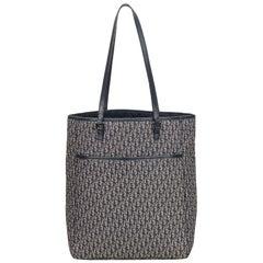 Dior White x Ivory x Blue x Navy Oblique Jacquard Tote Bag