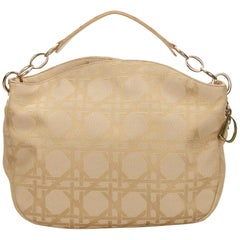 Dior Brown x Beige Cannage Printed Jacquard Hobo