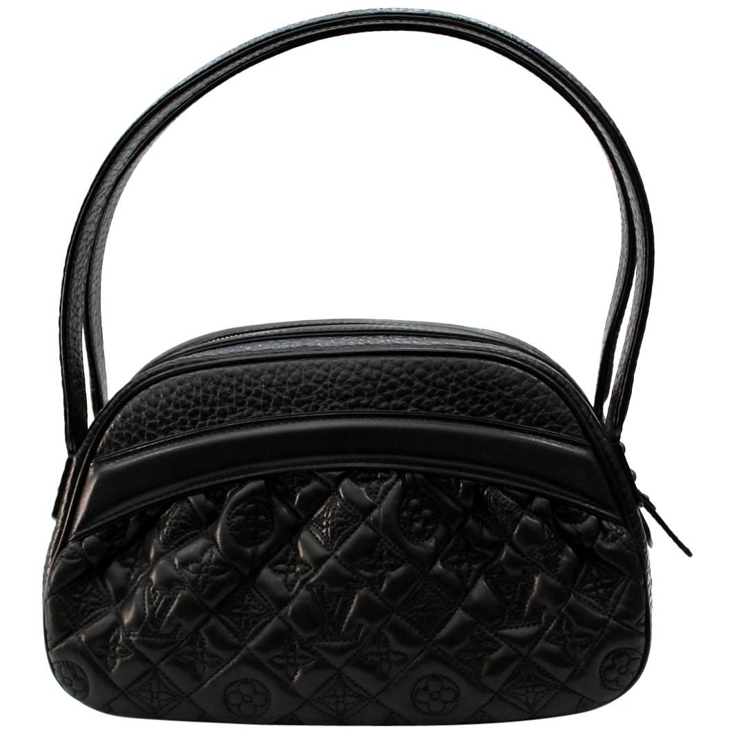 Louis Vuitton Limited Ed Black Lambskin Klara Vienna Bag