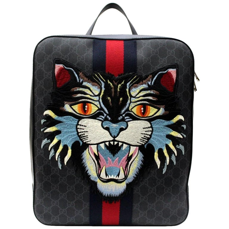 Gucci GG Supreme Canvas Angry Cat Backpack