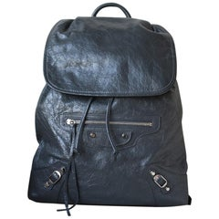 Balenciaga Classic Traveller Textured-Leather Backpack