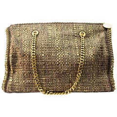 STELLA MCCARTNEY Gold Metallic Boucle Falabella Tote Bag
