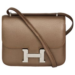 2005 Hermes Bronze Metallic Chevre Leather Constance 18