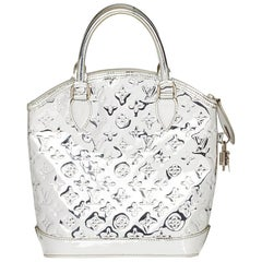 2007 Louis Vuitton Silver Monogram Miroir Vinyl Lockit
