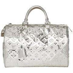 2006 Louis Vuitton Silver Monogram Miroir Vinyl Speedy 35