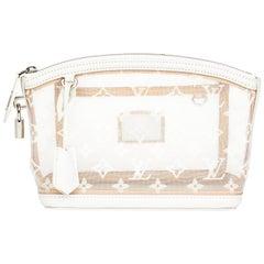 2011 Louis Vuitton White Monogram Transparence Nylon & Calfskin Lockit Clutch