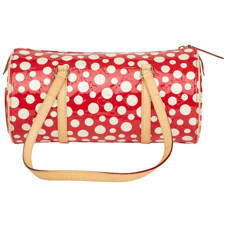 2012 Louis Vuitton Red Vernis Leather Dots Infinity Yayoi Kusama Papillon 30