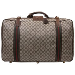 GUCCI Vintage Soft Suitcase in Brown Monogram Coated Canvas