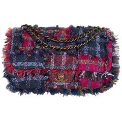 Gorgeous Chanel 'Jumbo' Sac Timeless in Multi-coloured Wool Tweed