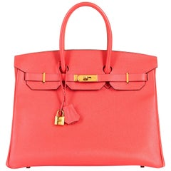 Hermes 35cm Birkin Bag in 'Rose Jaipur' Epsom with Gold hardware - Never Worn