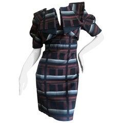 Gucci Origami Plaid Pattern Dress