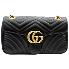 Gucci Marmont Black Leathe Shoulder Bag