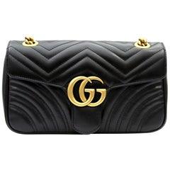 Gucci Marmont Black Leathe Shoulder Bag