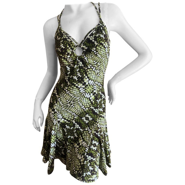 Just Cavalli by Roberto Cavalli Sweet Reptile Print Mini Dress