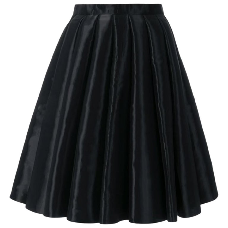 Junya Watanabe Comme des Garcons Catwalk Black Flared Skirt For Sale