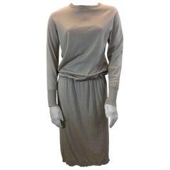 Brunello Cucinelli Tan Cashmere Dress