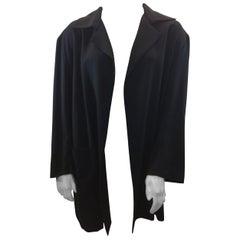 Yohji Yamamoto Black Jacket with Zipper Detail