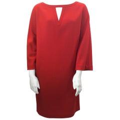 Charles Nolan Red Wool Dress
