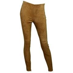 Ralph Lauren NWT Tan Suede Riding Slacks W/ Ankle Zipper Sz 4