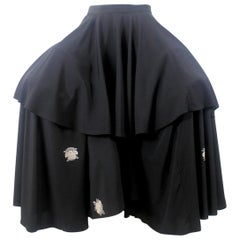 Yohji Yamamoto Orchid Flower Pannier Skirt