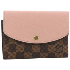 Louis Vuitton Normandy Compact Wallet Damier Canvas and Leather
