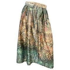 1960s Printed Art Nouveau Handmade Skirt