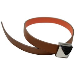 Hermès Médor Infini Bracelet Gold Crevette Leather and Palladium Double tour