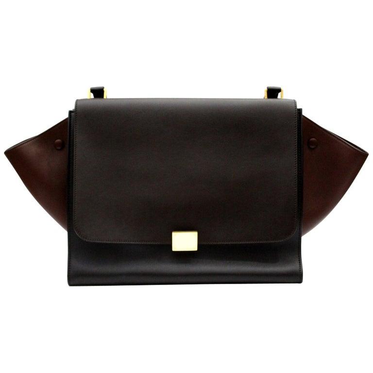 e31e59cc8024 Cèline Tri-Color Leather Large Trapeze Bag For Sale at 1stdibs