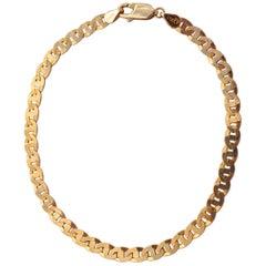 IW Italian Oval Link 14 Karat Gold Chain Bracelet