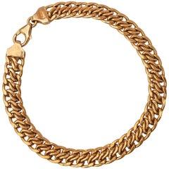 Milor Italian Fancy Link 14 Karat Gold Chain Bracelet