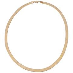 Milor Italy 14 Karat Gold Herringbone Necklace
