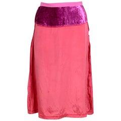 Maison Martin Margiela vintage runway fall 1995 pink skirt