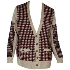 Multicolor Chanel Houndstooth Cashmere Cardigan