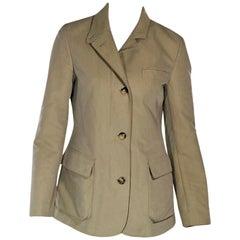 Beige Loro Piana Cotton-Blend Jacket