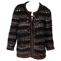 Multicolor Chanel Wool-Blend Cardigan Sweater