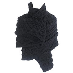 Tao Comme des Garcons 2008 Chunky Aran Cable Knit Top