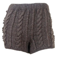 Tao Comme des Garcons Chunky Aran Cable Knit Shorts