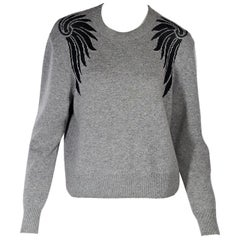Grey & Black Dries van Noten Cashmere-Blend Sweater