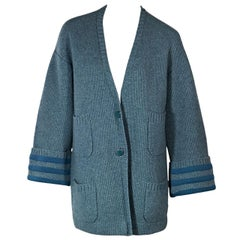 Blue Chanel Cashmere Cardigan