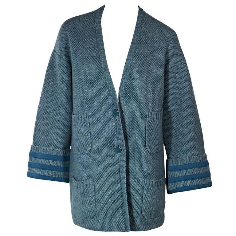 Blue Chanel Cashmere Cardigan
