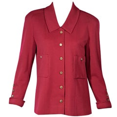 Hot Pink Vintage Chanel Button-Front Jacket