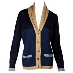 Multicolor Chanel Colorblock Cashmere Cardigan