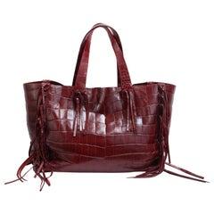Valentino C-Rockee Crocodile Tote Bag