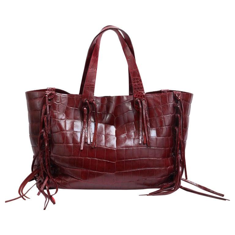 Valentino C-Rockee Crocodile Tote Bag  For Sale